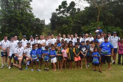 Scotland World Cup 2017 squad visiting the Mossman Gorge indigeneous community north of Cairns