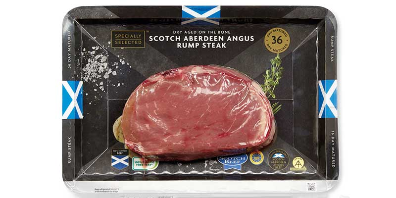 Aldi introduces cardboard packaging across entire steak range in Scotland