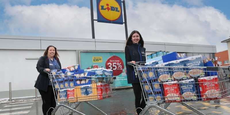 Lidl shoppers donate food to Scottish charities