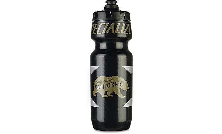 Specialized Big Mouth 24oz Water Bottle - Black/Metallic Design Bear