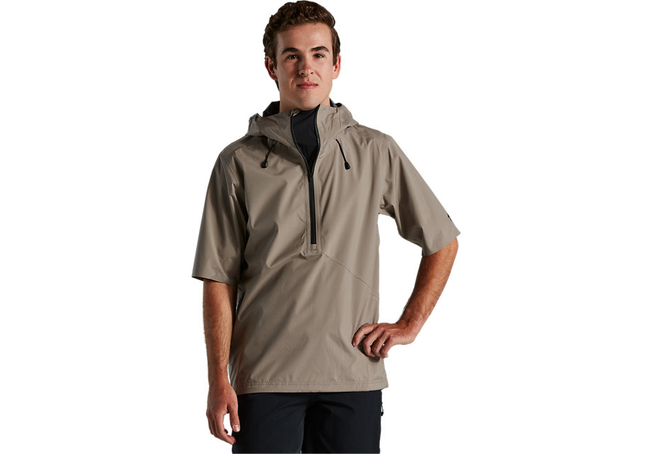 trail-series-short-sleeve-rain-anorak-taupe