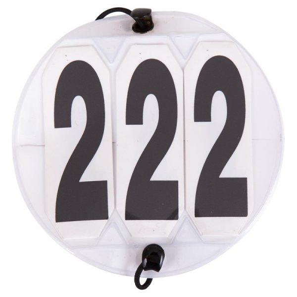 Rund nummerlapp med 3 siffror