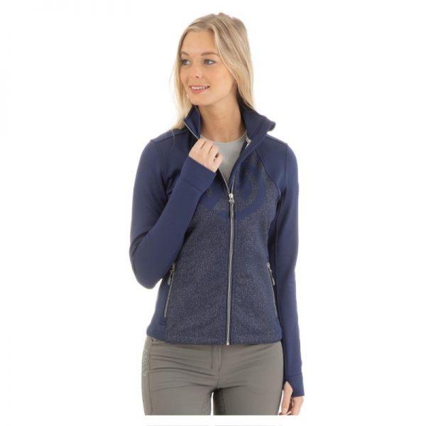 Anky Printed technostretch jacket blå