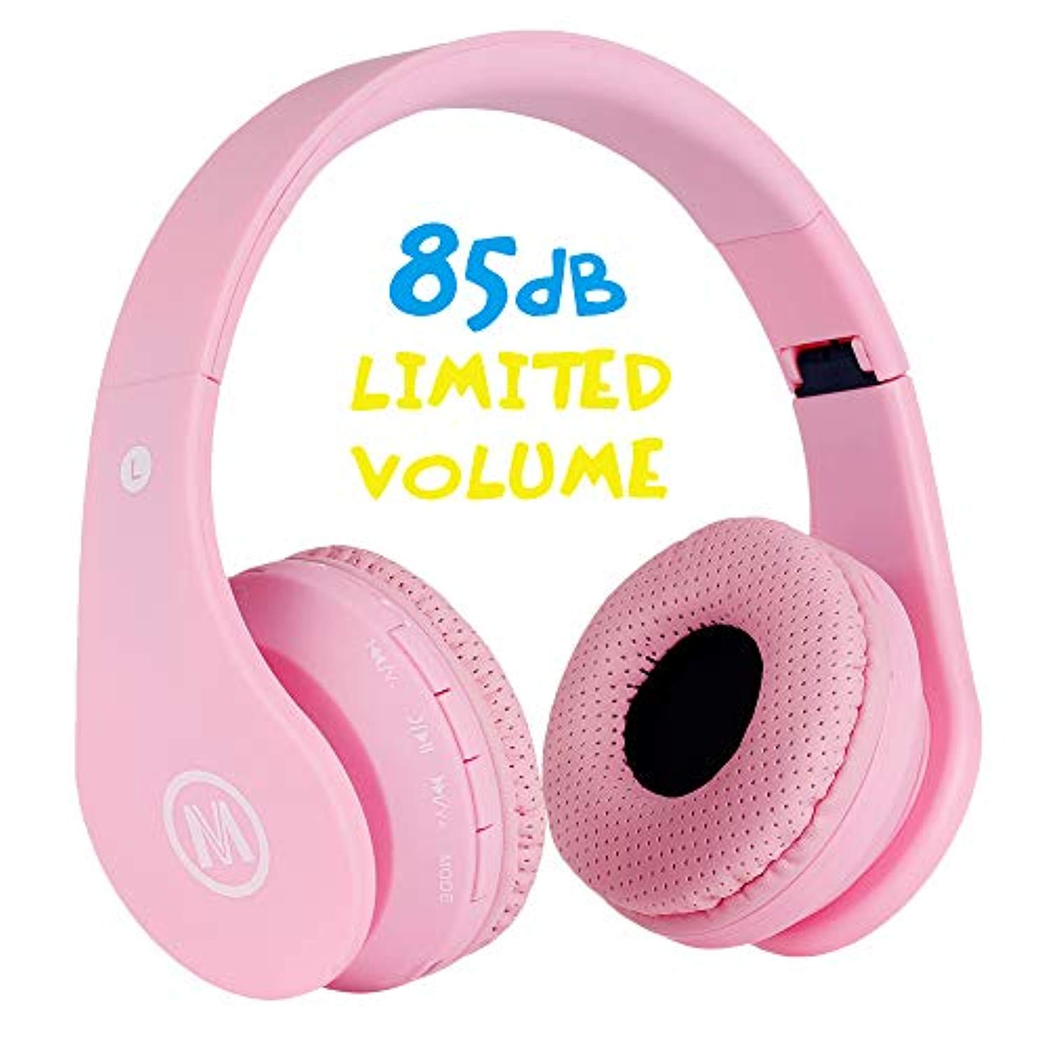 Mokata Kids Headphone Bluetooth Wireless Over Ear Foldable Stereo Sound Headset With Aux 3 5mm Jack Cord Sd Card Slot Built In Mic Microphone For Boys Girls Cellphone Tv Pc Game Equipment B01 Pink