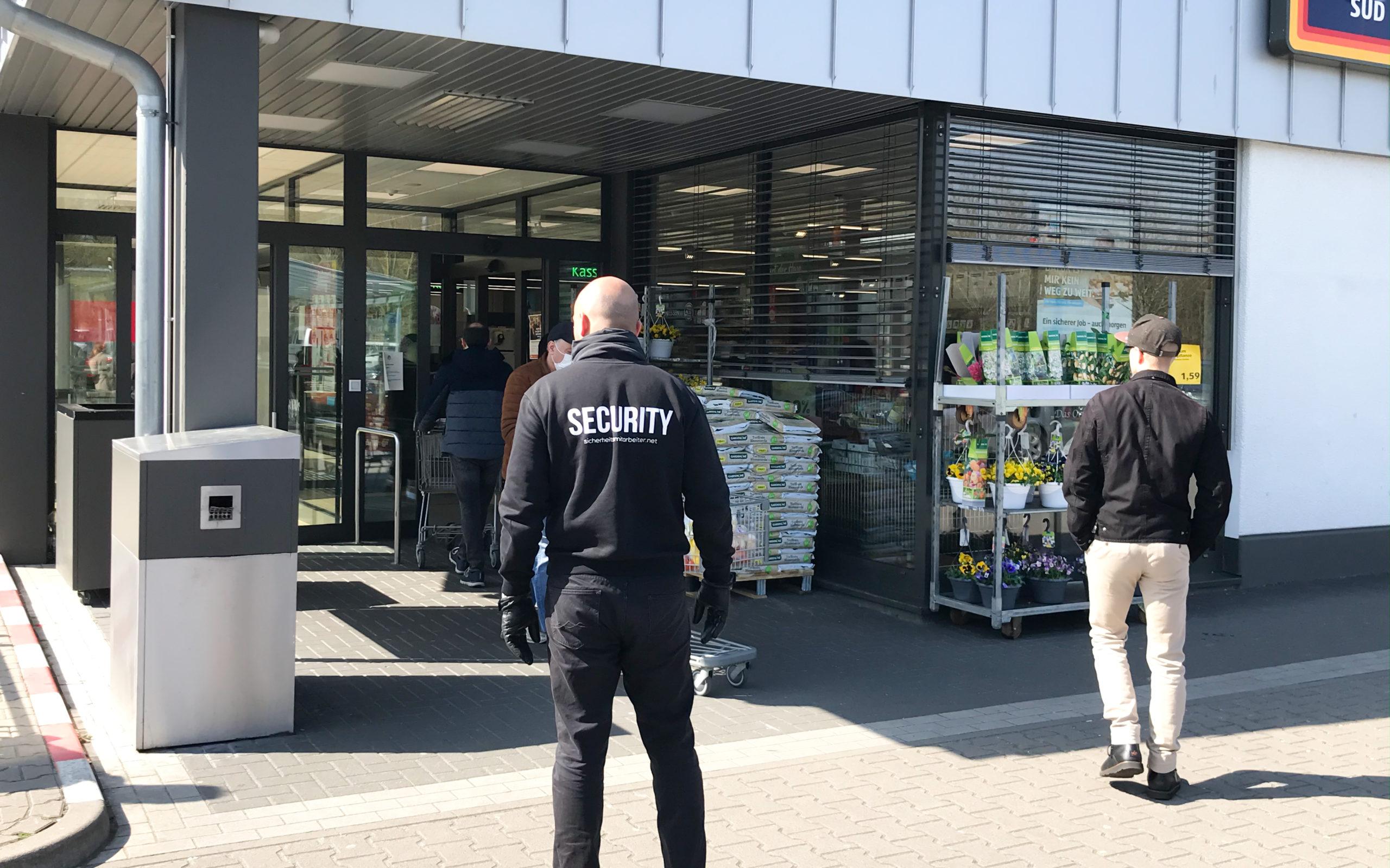 Einzelhandel Sicherheitspersonal