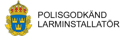 polisgodkand-larminstallation