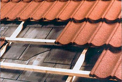 Toiture métallique Polytuil Decra sur un toit existant