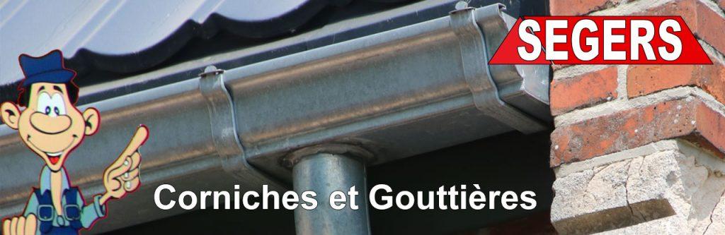Installation réparation de goutières et corniches