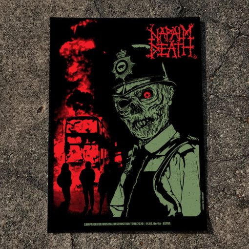 Napalm Death 2020 Berlin Gig Poster