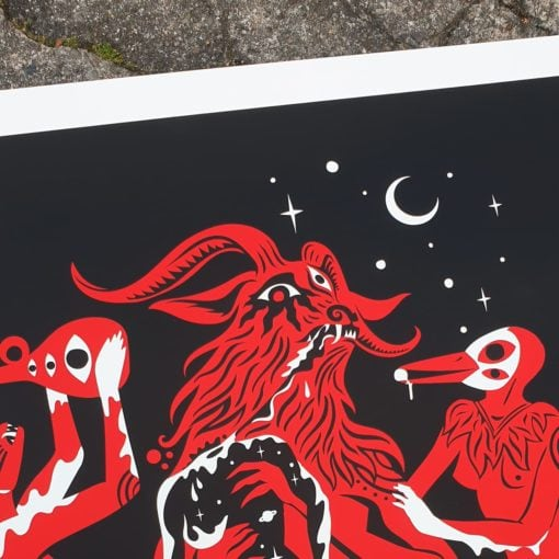 detail of Die Pest Poster by Tomas Ives