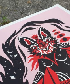 detail of Molotov Princess Poster by Tomas Ives