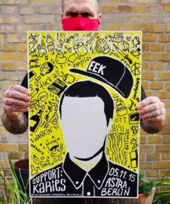 Sleaford Mods Gig Poster 2015 Berlin by Sehfeuer
