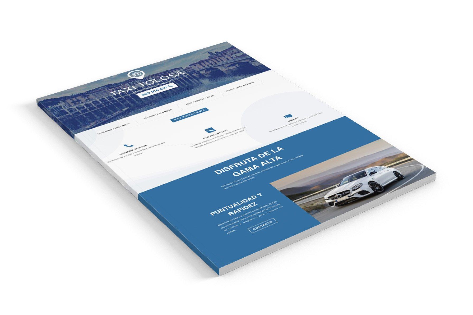 portfolio proyecto diseño web taxitolosa.es seik gipuzkoa 2