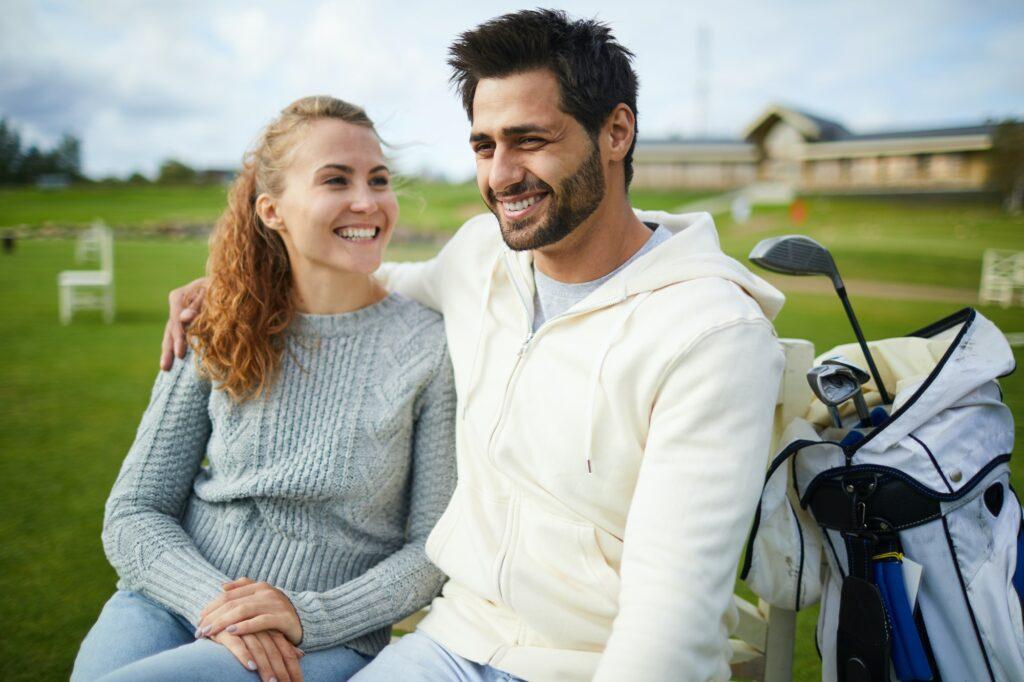 Happy couple find partner online