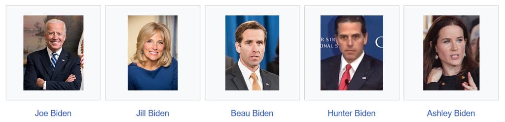 Hvem og hvilke er Joe Biden og Jill Bidens familie?