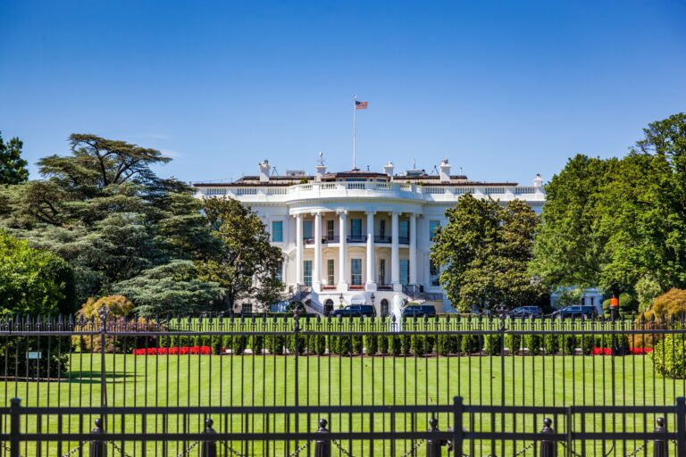 The White House, Washington DC, USA.
