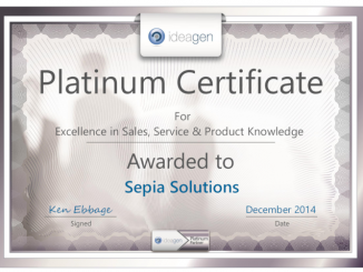 Sepia Solutions: Ideagen - Platinum Partner