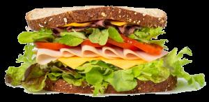 Bread sandwich nicely garnished
