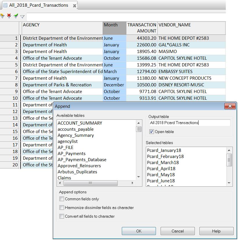 Arbutus Analyzer 6.3 - Append command