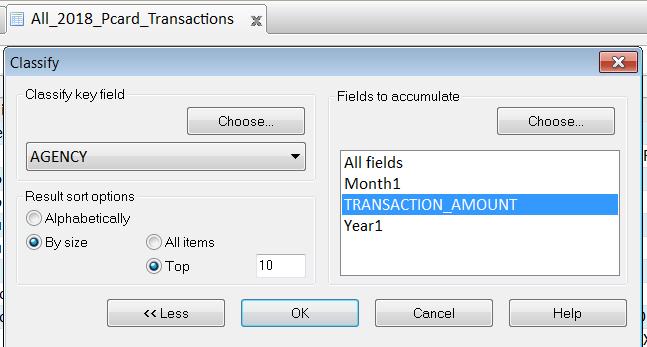 Arbutus Analyzer Classify command