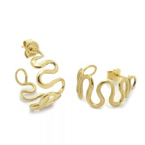Wisp Hoop Earrings earrings in Yellow Gold by jewellery designer Serena FOx