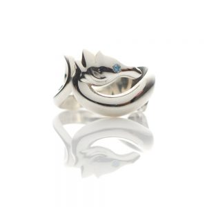 Seahorse Silver Ring designed by Serena Fox