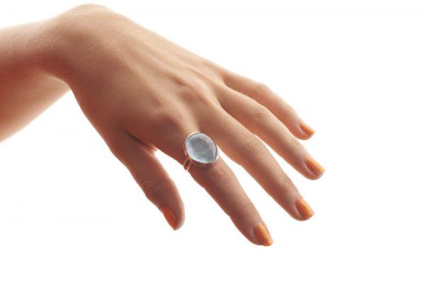 Serena Fox Acrosi Aquamarine Ring
