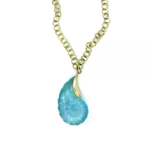 Serena Fox Ammonite Pendant Necklace