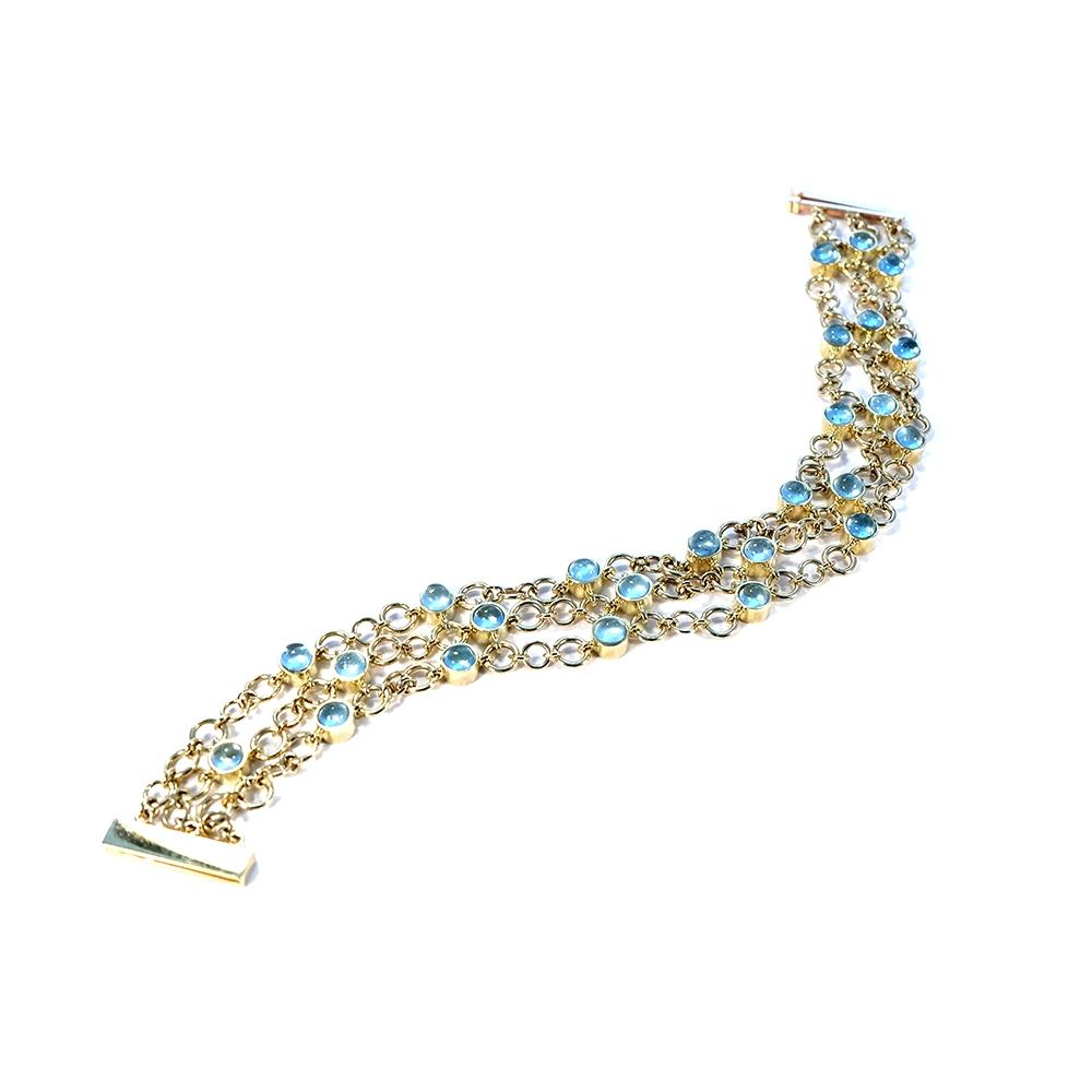 Serena Fox Catena bracelet with aquamarine