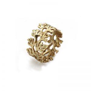 Serena Fox Chondrous Ring yellow gold