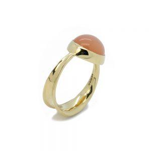 Serena Fox Ribbon Seaweed Ring apricot