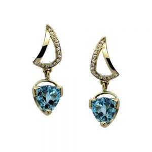 Serena Fox Sail Earrings blue