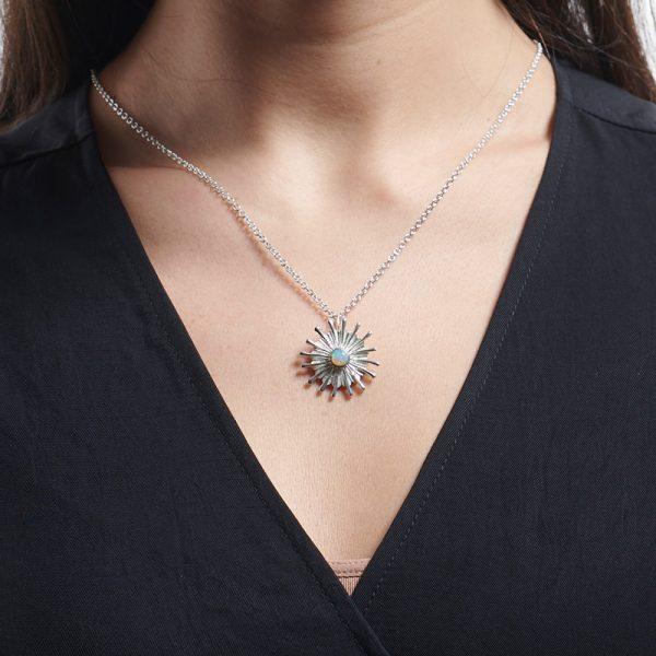 Serena Fox Sunray Pendant Necklace