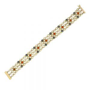 Serena Fox Catna bracelet with garnet
