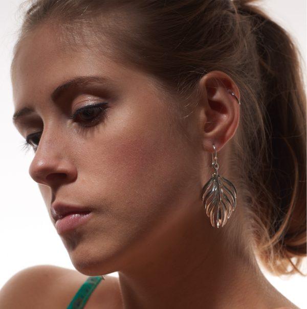 Serena Fox Palm Leaf Earrings