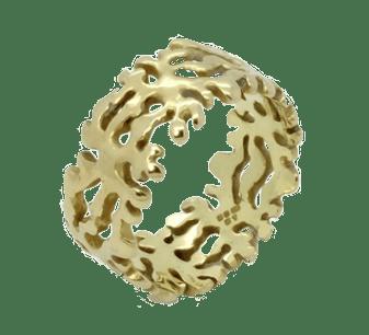 Marine Seaweed Ring ISO Gold