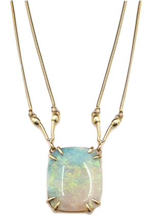 Seahorse Necklace isolated