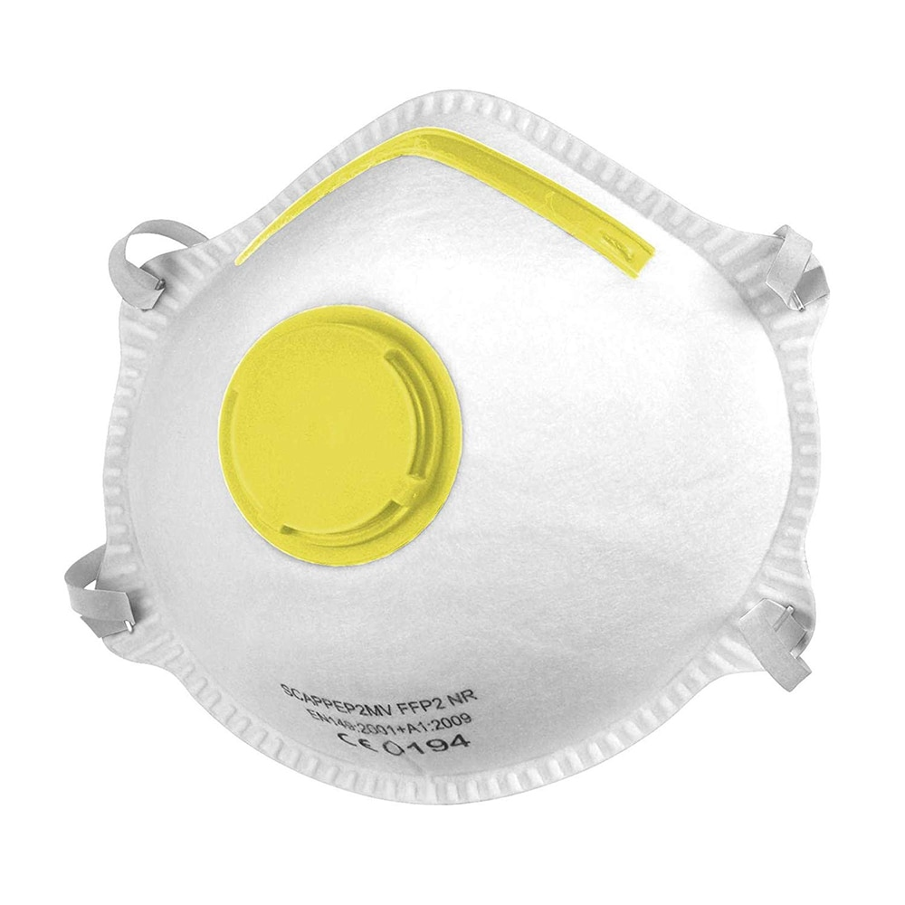 FFP2 cup style respirator with valve