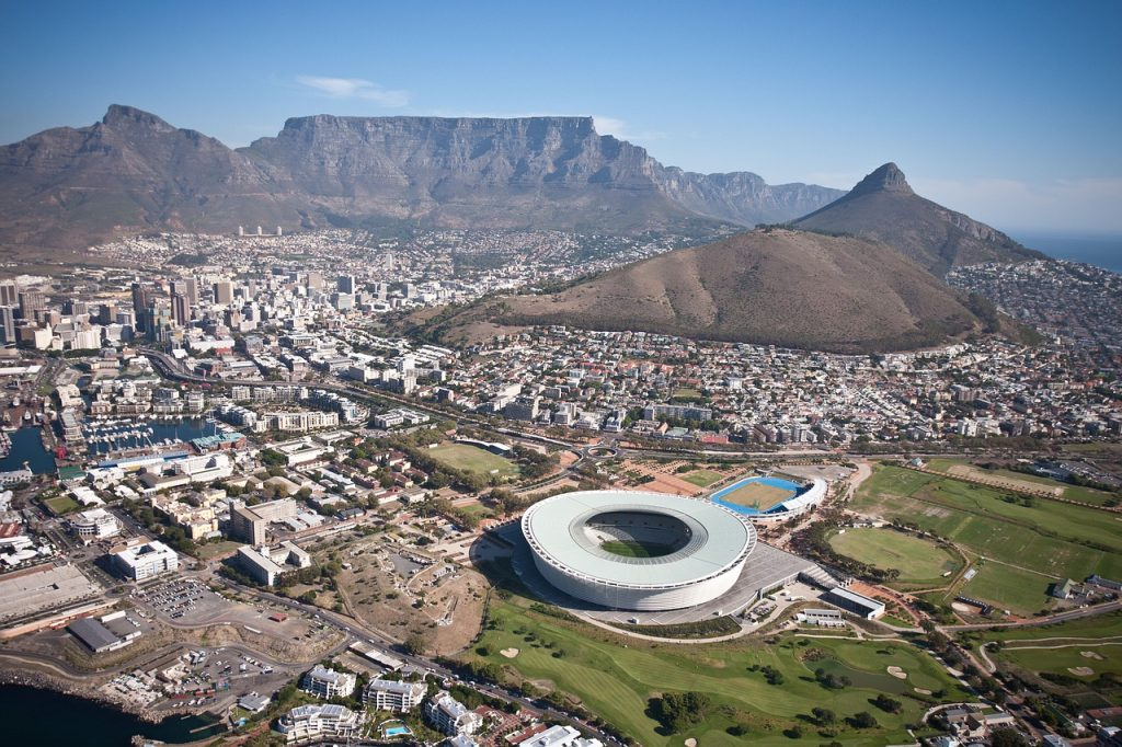 cape town, stadium, aerial