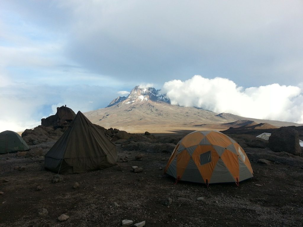 kilimanjaro, africa, tent