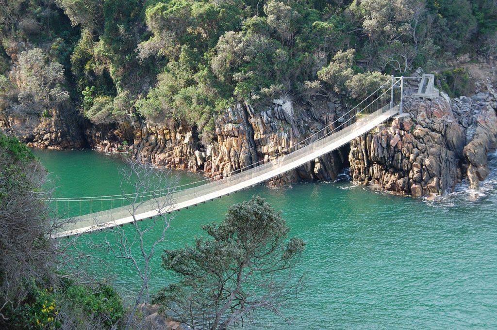 suspension bridge, south africa, cable