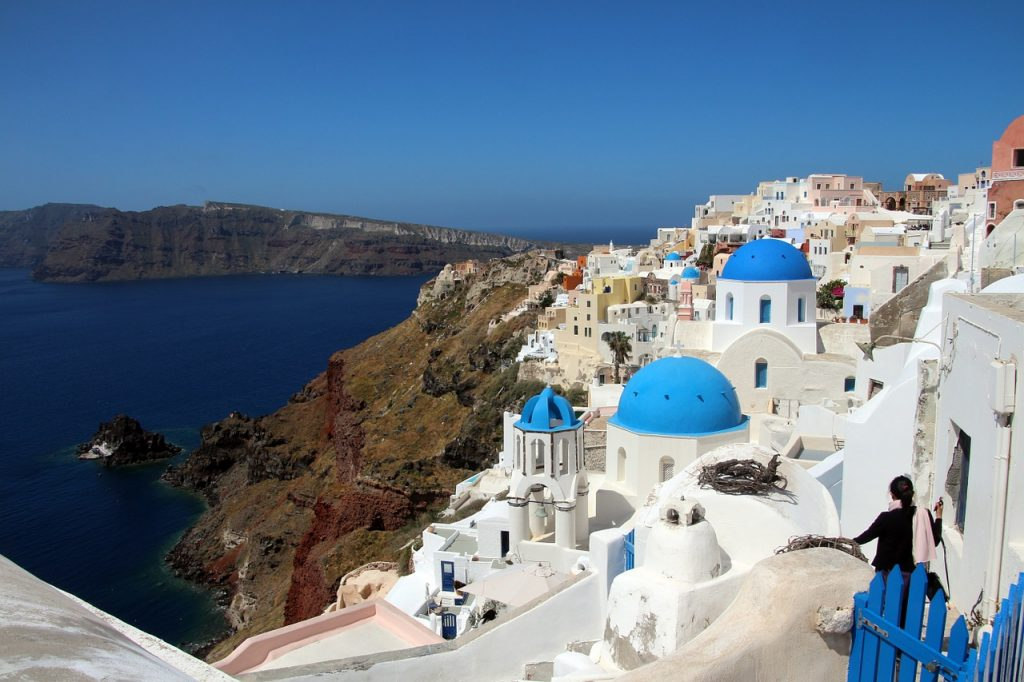 santorini, sea, greece
