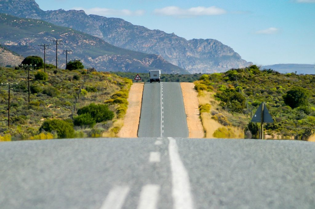 garden route, asphalt, road