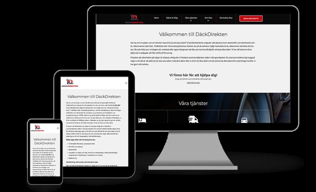 dackdirekten mobile tablet desktop responsive