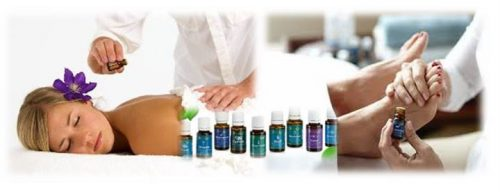 Regndroppsmassage - oljor och behandlare