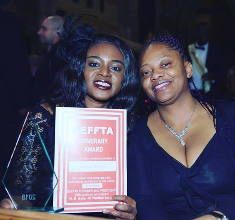 2018 BEFFTA Award winner Augusta Koroma with Dr. Pauline Long