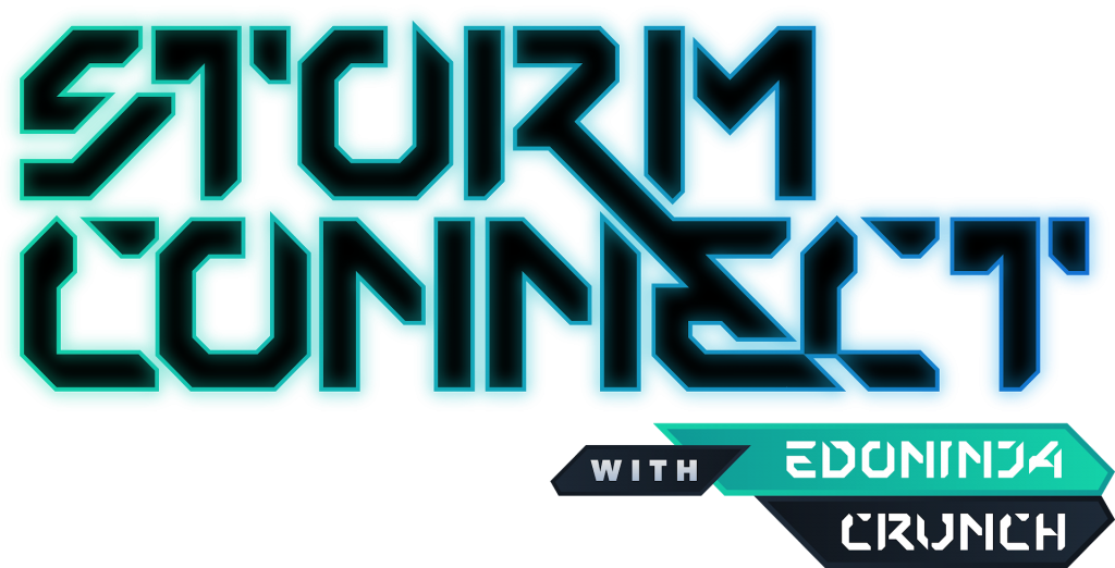 """Logo for the """"Storm Connect"""" Podcast With EdoNinja and Crunch"""