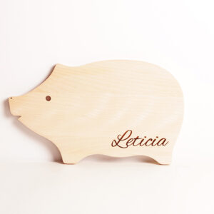 "skärbräda barn ""lille gris"" personlig present"