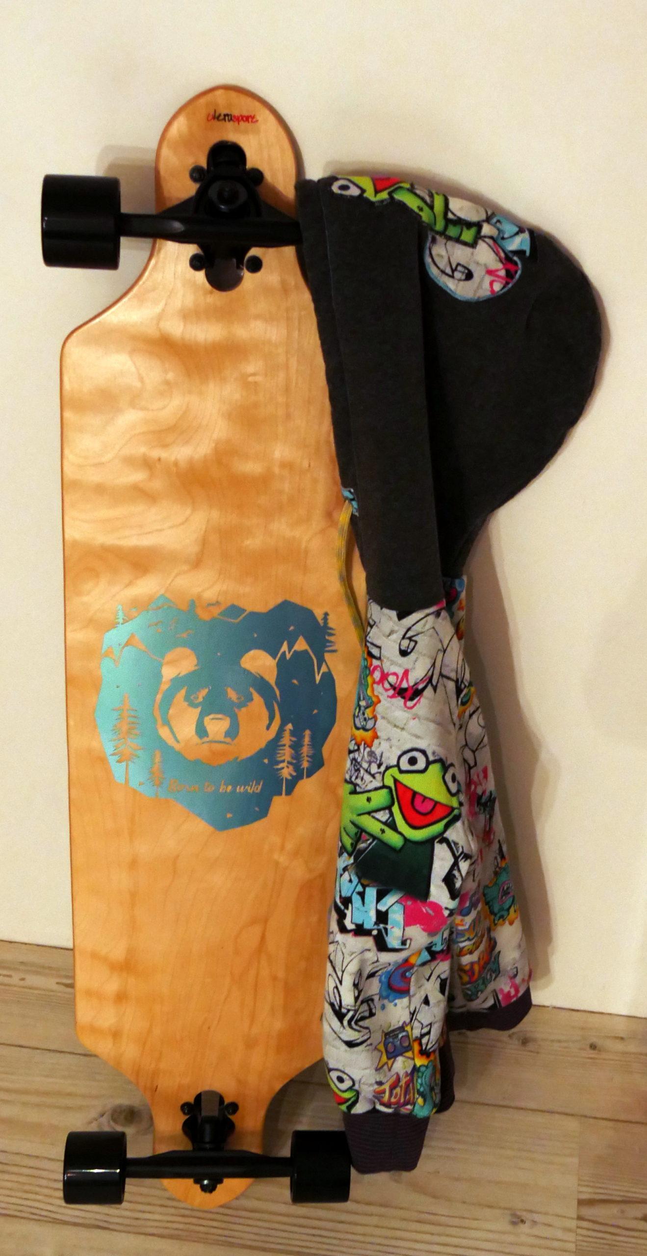 Skateboard → Autofolie Plotterdatei BORN TO BE WILD von SILHOUETTE LOVE
