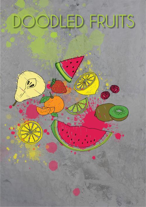 Plotterdatei DOODLED FRUITS